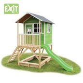 Casita de madeira infantil Loft 500 Green elevada