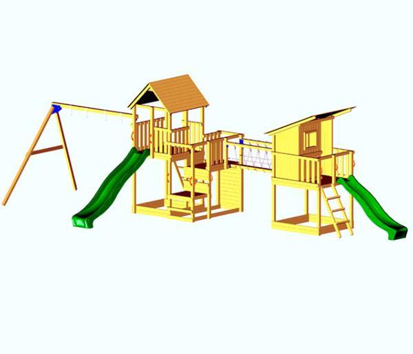 parque infantil atlas bluerabbit parques infantiles columpios casitas elevadas infantiles masgames