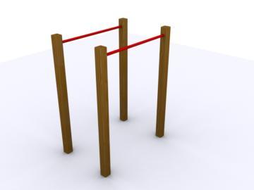 barras paralelas, barras para balancearse, barras para ayudar a caminar, barras de ejercicio, circuito de ejercicios