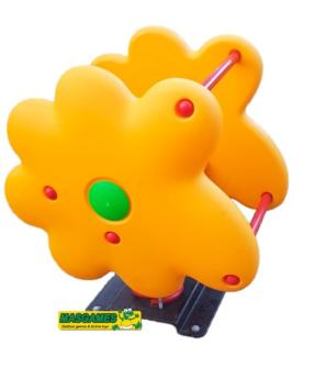 muelle flor, muelle flor para uso publico, muelle flor para parques infantiles, muelle para parques infantiles, muelle flor amarilla, muelle flor para jardines