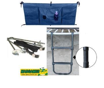 Pack escalera + bolsa para los zapatos + anclajes para camas elásticas
