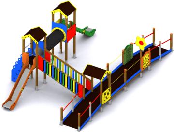Parque infantil Asia adaptado para personas con discapacidad