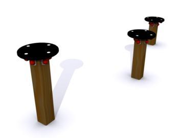 soportes de madera, ejercicios de equilibrio, saltar, ejercicios de saltar, circuito de ejercicios