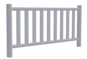 Cerca de metal galvanizado