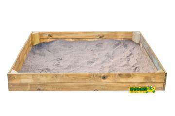 Arenero de madera MASGAMES rectangular