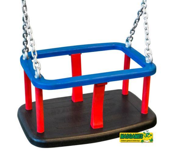 Asiento beb de caucho con cadenas para columpio for Asiento para bebe
