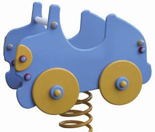 balancin de muelle infantil con forma de coche