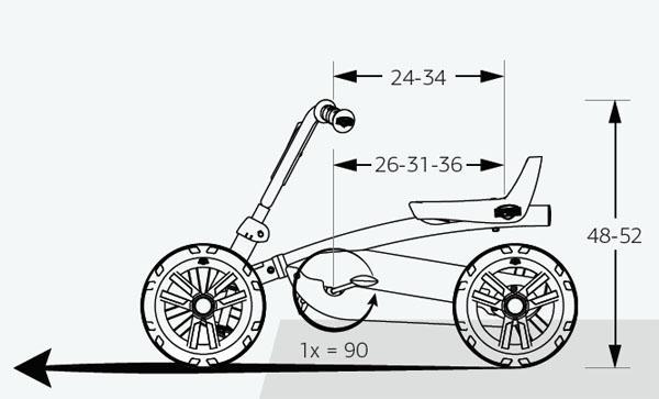 medidas coche de pedales BERG BUZZY