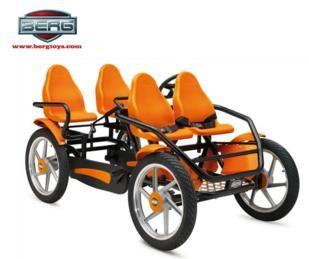 cuadriciclo, coches de pedales de alquiler, berg toys, gran tour, coches de pedales, karts de pedales, family bike