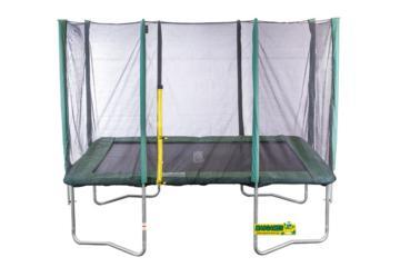 cama elástica rectangular M con red masgames