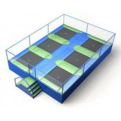 Cama elástica em paralelo quadradas