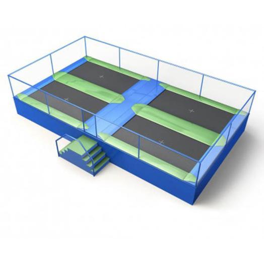 Camas elsticas en batera para uso profesional TOPLUDI Juegos