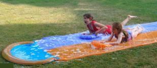 tobogan acuatico, tobogán acuático, carrera acuática, racing water, masgames, garden games, juegos de jardín, juegos de exterior