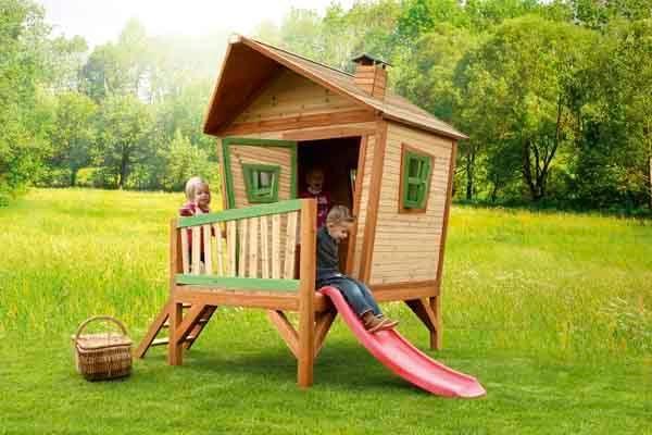Casita infantil de madera iris - Casita infantil madera ...