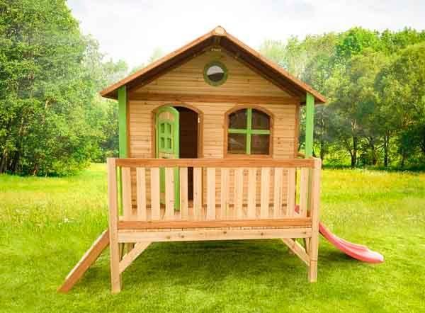 Casita de madera infantil stef for Casitas con jardin