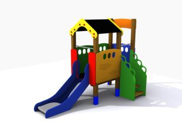 Parque infantil homologado, casita de madera para parques infantiles, complemento para un parque infantil público, parque infantil casas elevadas, parque infantil casita con tejado, parque infantil casa, parque infantil Loumarpark, casa elevada infantil