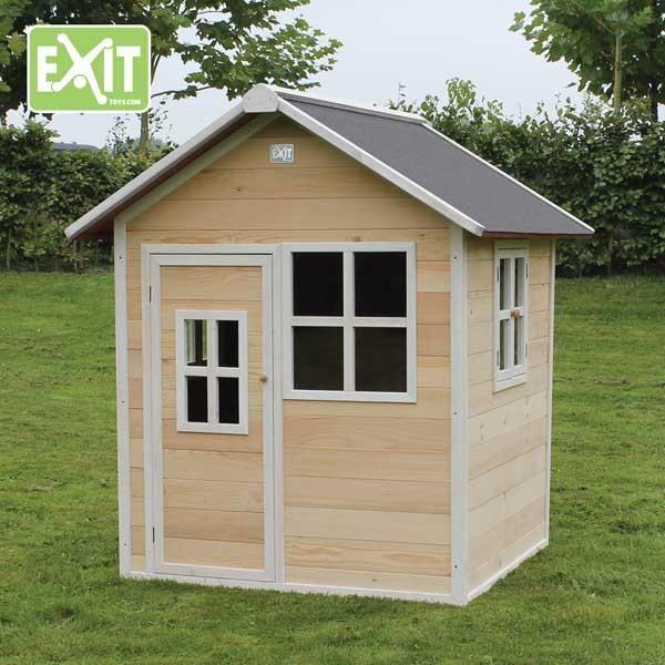 Casita de madera infantil loft natural - Casitas madera jardin ...