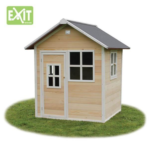 Casita de madera infantil loft natural - Casa madera infantil ...