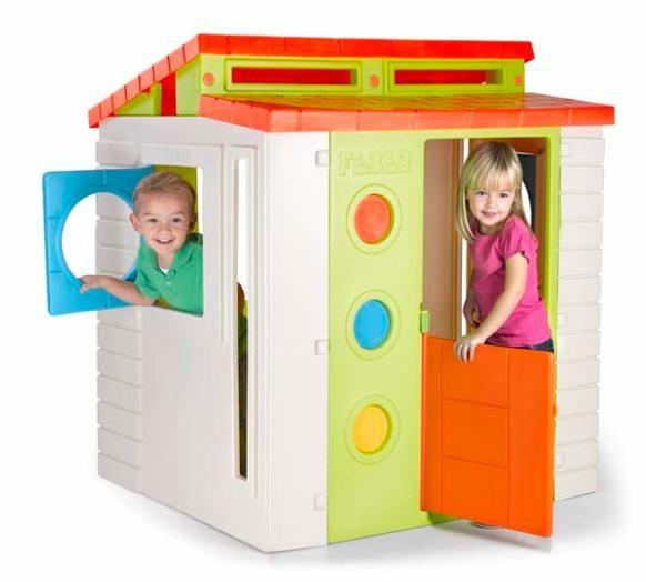 Casita infantil modern house feber for Casitas de jardin de plastico