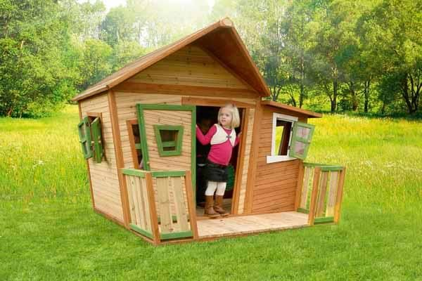Casita de madera infantil lisa - Casita madera jardin ...