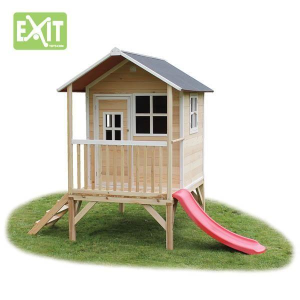 Casita de madera infantil elevada loft elevada - Casa madera infantil ...