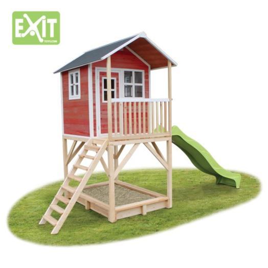 Casita Infantil Madera Exit Loft 700 Roja - Casas-infantiles-para-jardin