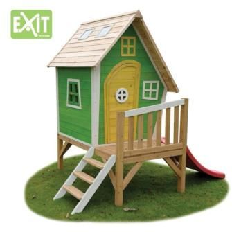 casitas infantiles de madera, casitas de madera elevadas, casitas de madera con tobogán, masgames, exit toys group,