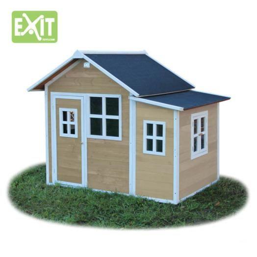 Casita infantil de madera loft 150 natural for Casas madera ninos jardin