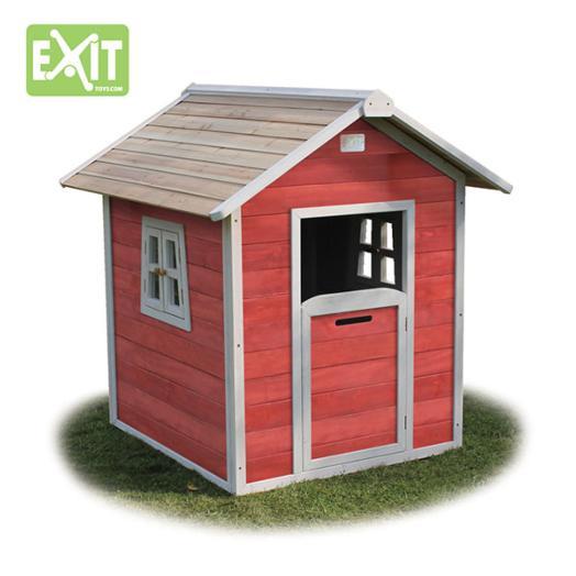 Casita de madera infantil beach red for Vendo casita de madera para jardin
