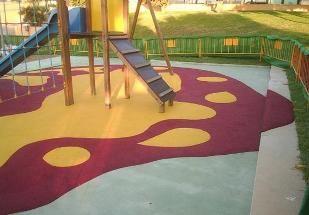 caucho continuo para parques infantiles