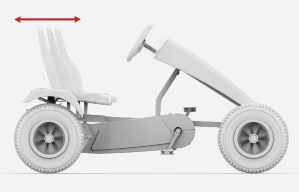 karts pedales berg XXL asiento ajustable 8 posiciones