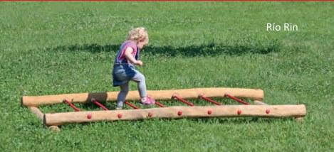 escalera horizontal infantil madera