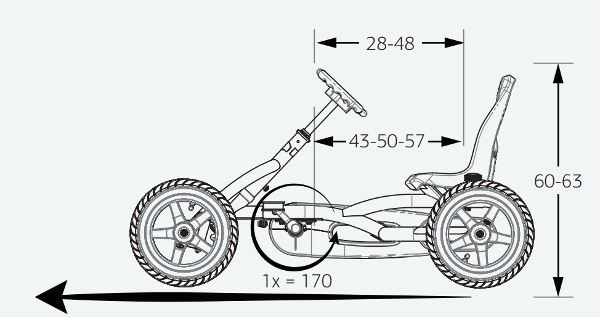 coches de pedales berg buddy medidas