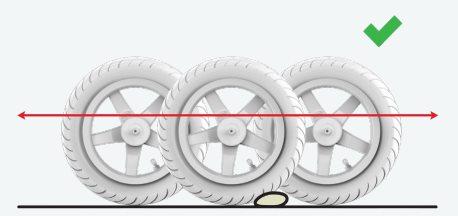 coche de pedales ruedas neumático