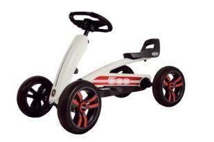 cotxes de pedals, cotxes a pedals, vehicles a pedals, cotxes infantils a pedals, karts a pedals, kart a pedals, bergtoys, berg toys, berg buzzy, buzzy, buzzy fiat 500,