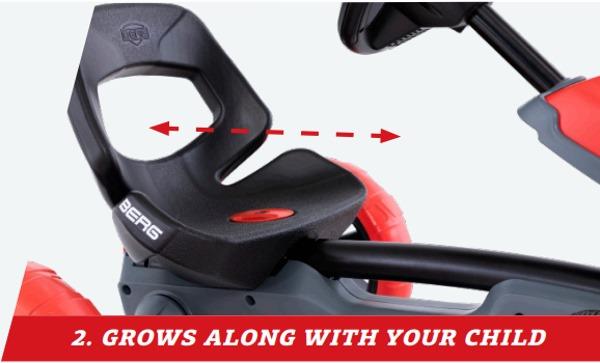 coche de pedales berg reppy con asiento regulable