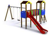 Parque infantil MIAMI columpio Doble