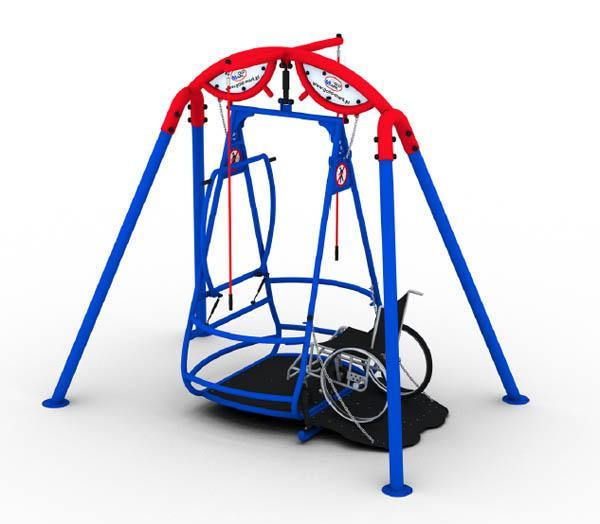 Columpio para silla de ruedas for Columpios infantiles