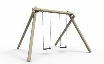Columpio de madera homologado Masgames Kasiopea