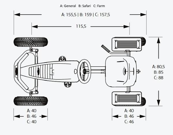 mides karts de pedals BERG
