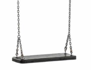 asiento de caucho con cadenas para columpio homologado