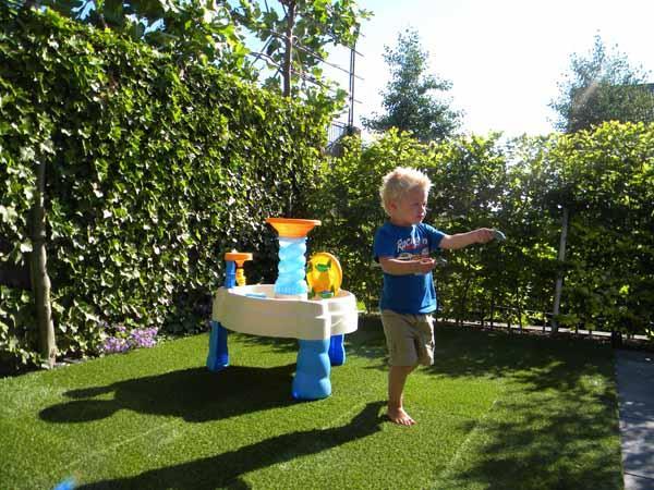 Loseta de caucho con c sped artificial - Losetas para jardin ...