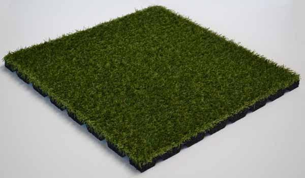 Loseta de caucho con c sped artificial - Suelo hierba artificial ...