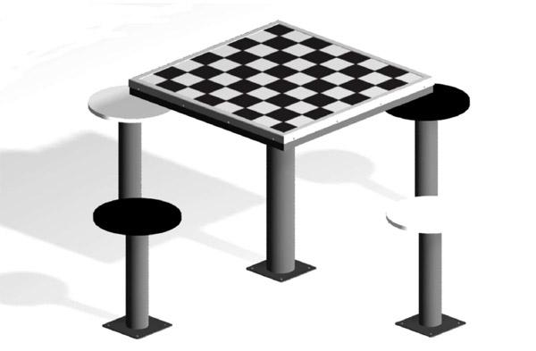 Mesa de ajedrez exterior 4 asientos for Mesa exterior