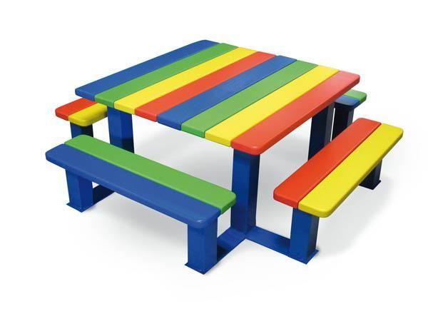 Mesas de picnic primaria exterior - Mesas para ninos de plastico ...