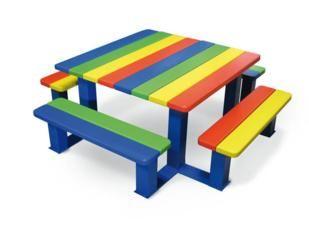 mesas de picnic infantiles, mesas de picnic para guarderias, mesas guarderias exterior, procity