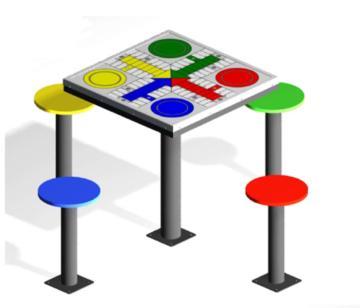 Mesa parchis de exterior, mesa de parchis, mesas de exterior, mesas de parchis, mesas de parchis de exterior, mesas antivandálicas, mesas para jugar al exterior,