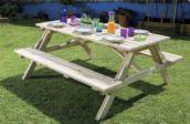 Mesa de picnic de madera plegable