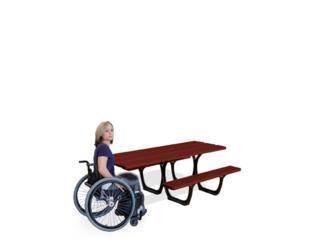 Mesa de picnic adaptada personas movilidad reducida