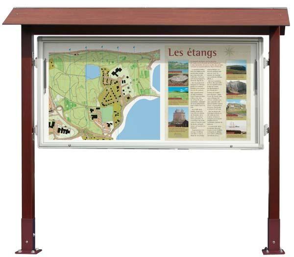 Panel informativo de madera 1 cara - Paneles de madera para exterior ...